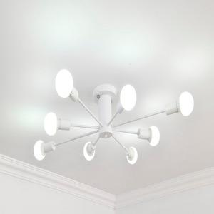 Image 3 - E27 מרובה מוט יצוק ברזל תקרת תאורת 110V 240V תאורה קבועה LED תקרת מנורת מטבח בית תפאורה אור