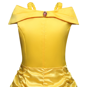 Image 4 - Cosplay Belle Princess Dresses for girls Beauty and the beast Costume Kids Birthday dress Children Halloween Girls Clothing