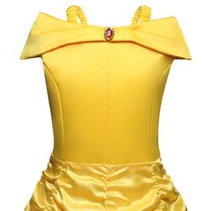 Image 4 - Vestidos de princesa bella para niñas, disfraz de La Bella y La Bestia, vestido de cumpleaños infantil, ropa de Halloween para niñas