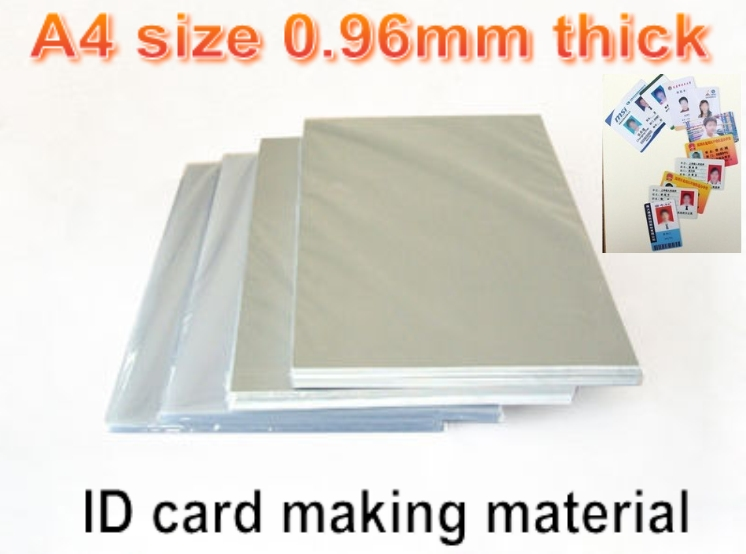 A4 size 0.96mm thick Blank Inkjet print <font><b>PVC</b></font> <font><b>sheet</b></font>(white) for <font><b>PVC</b></font> ID card making ,student card , membership card making material image