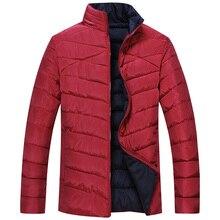 Большой 7XL8XL новая зимняя мода случайные стоячим воротником мужчины толщиной проложенный хлопка куртки хлопка куртки мужчины бесплатная доставка