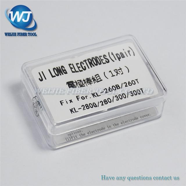 Free Shipping 1 Pair Electrodes for Jilong Fusion Splicer KL 280 KL 280G KL 280H KL 300 KL 300T KL 300F