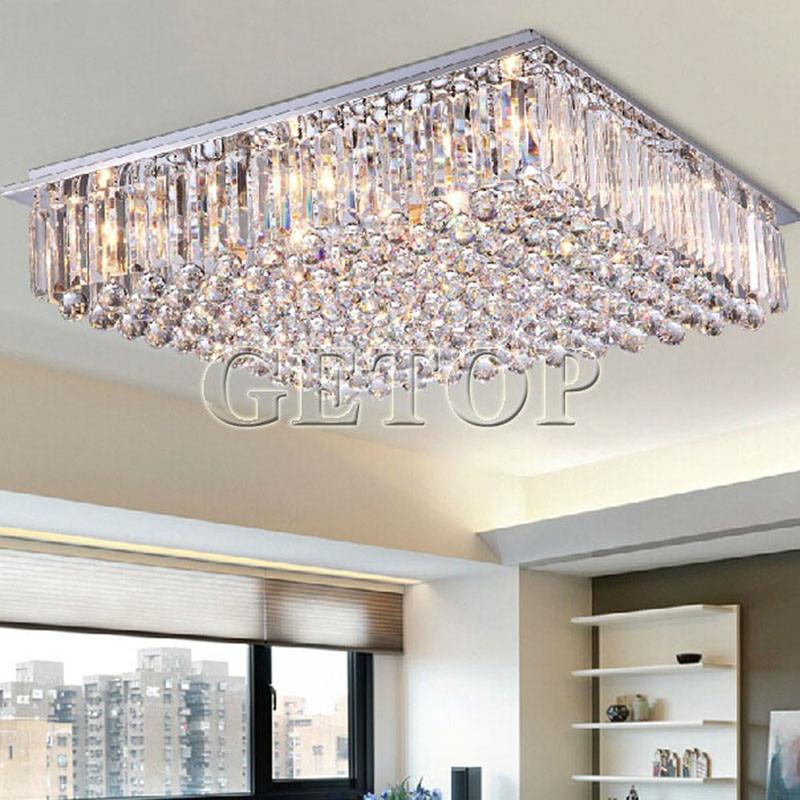 Современная роскошь ясно K9 хрустальная люстра светодиодный освещения Гостиная ресторан Кристалл потолочный светильник E14 Освещение в пом