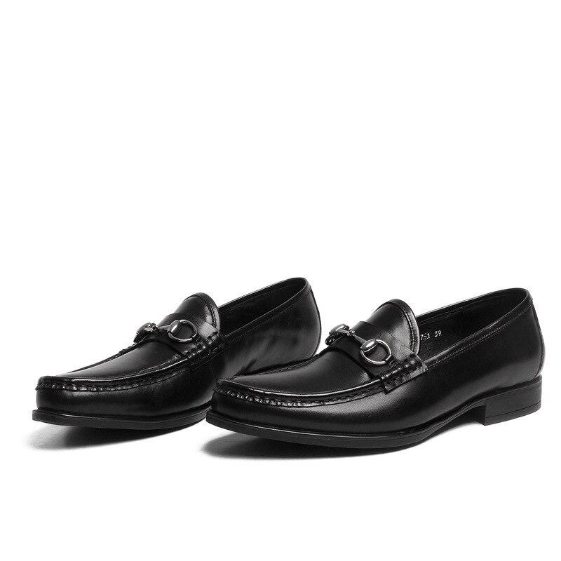 Chaussure De Escritório Homens Genuíno Produto Do brown Respirável Preto Couro Sapatos Homme Cuir Shoes Dos Novo Botas Mycoron Formais Luxo qOIwZOWE