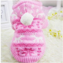 Newest Autun Winter Lovely Pet Dog Clothes hoodie Christmas Snowflake Sweater Halloween Pet Clothes Sweater Milu Deer