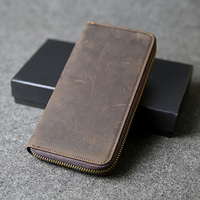 8875 Mans Card Holders Mens Leather Wallets Leather Purses Genuine Leather Fashion Vintage Crazy Horse Leather