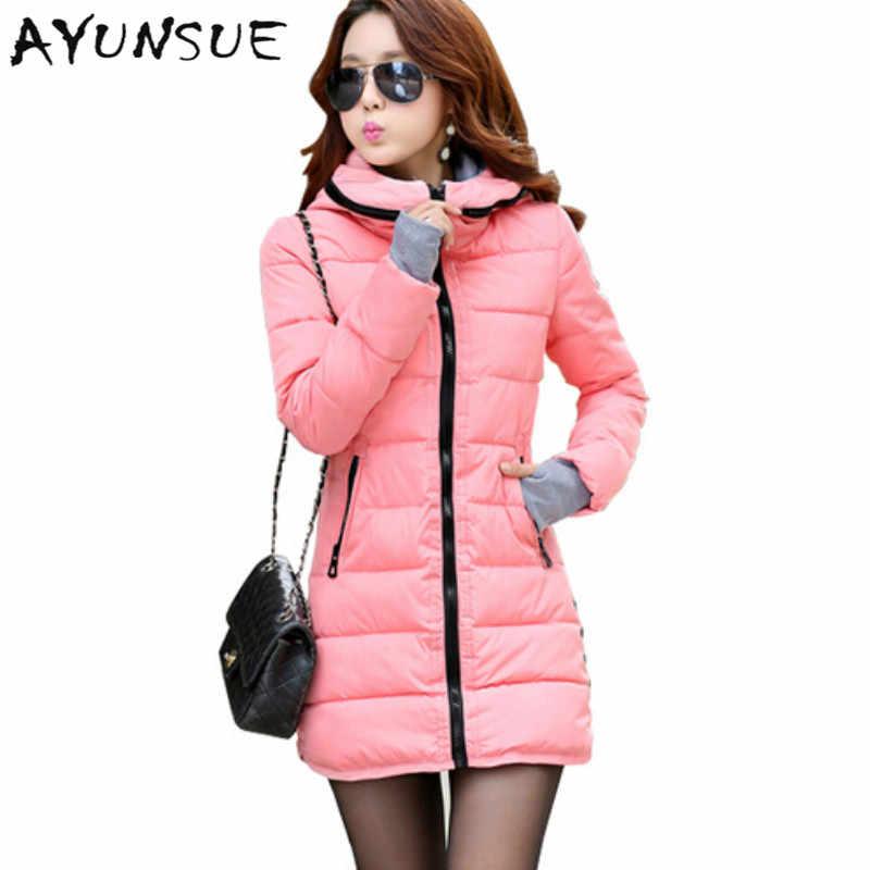 Chaqueta de Invierno para mujer 2019 ropa de invierno y otoño de alta calidad abrigo de invierno para mujer prendas de vestir Mujer Abrigos largos TSP1657