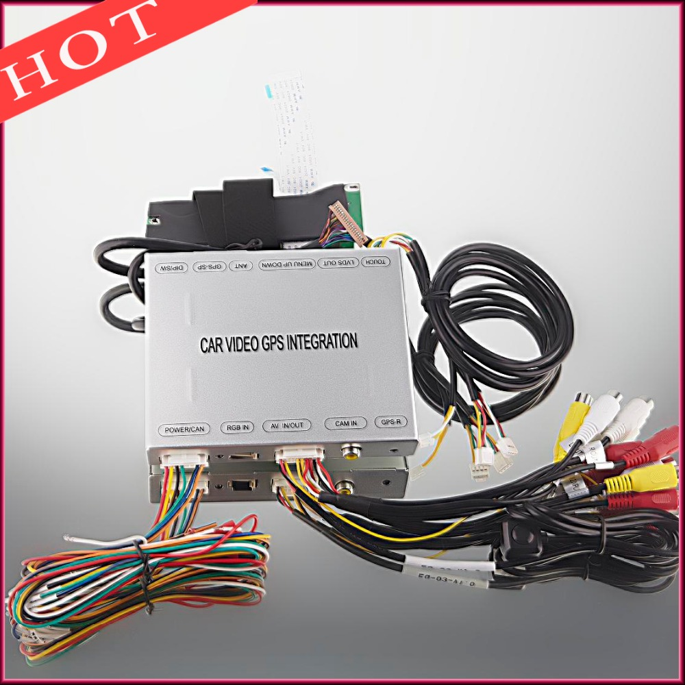 Suitable for Volkswagen Passat Fabia GOLF7 Car Video Interface with 2AV Input DTV DVD Video Signal