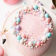 50 г съедобные сахарные бусины 14 мм Большой жемчуг сахарный шар помадка выпечка торта DIY разбрызгивает красочный шар украшения торта