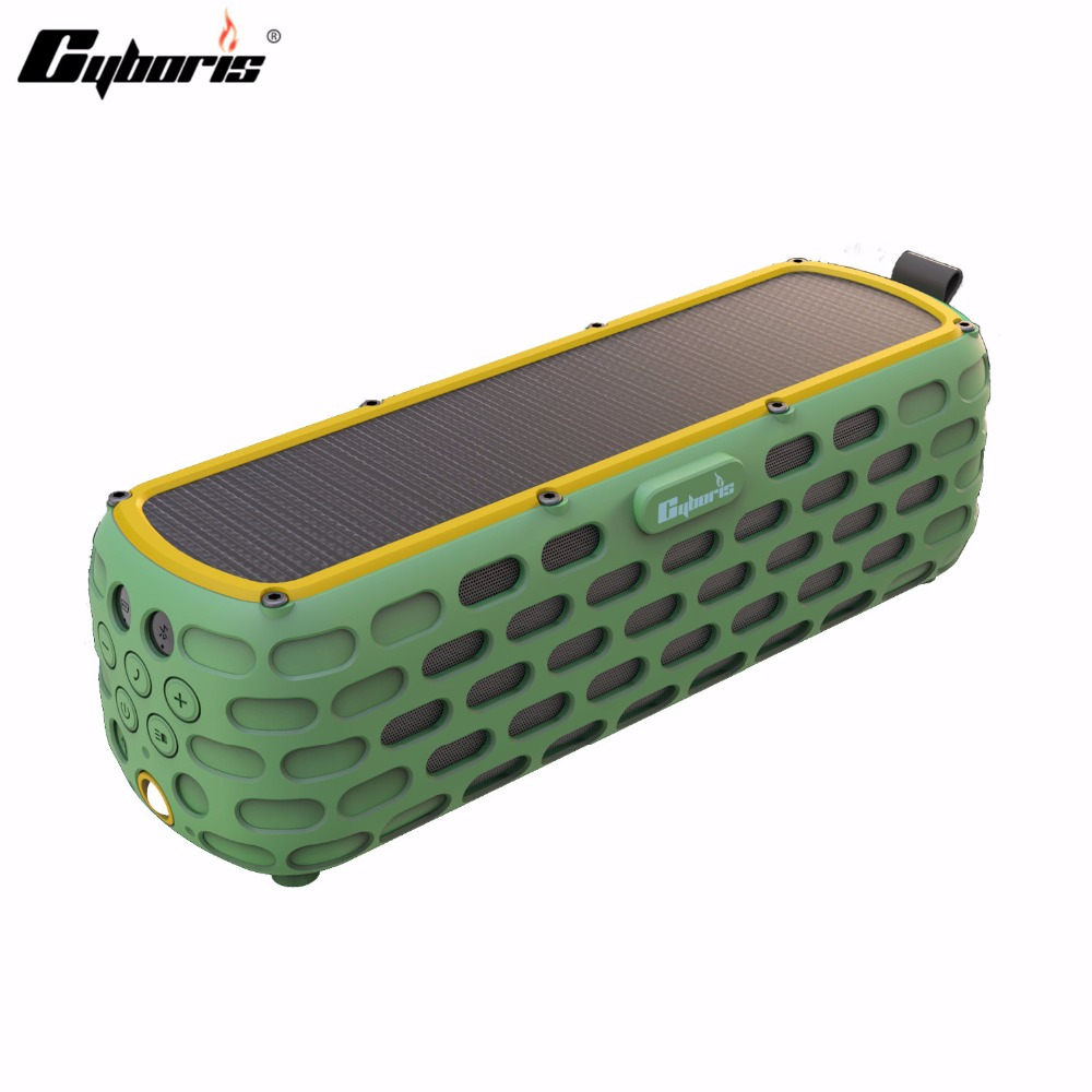 CYBORIS Solar Bluetooth Speaker 30 Hours Playtime Portable 2017 New Arrival Wireless HiFi Speaker for Outdoors Waterproof portable solar power meter for solar research and solar radiation measurement sm206