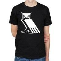 Nowy styl T shirt men marka-odzież T-shirt mody czeski gaj sowa illuminati masonem satanic