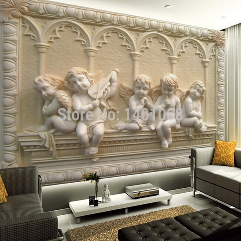 Wallpaper For Living Room 2017 custom 3d statu promotion-shop for promotional custom 3d statu on