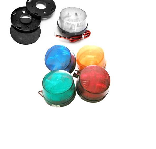 5 Color 12V Security Alarm Strobe Signal Warning Light Siren LED Lamp Flashing Light