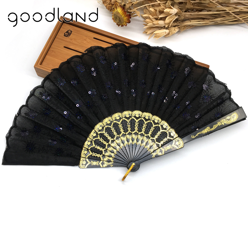 Wholesale Free Shipping 30pcs Home Decoration Crafts Vintage Retro Peacock Folding Fan Hand Plastic Lace Dance