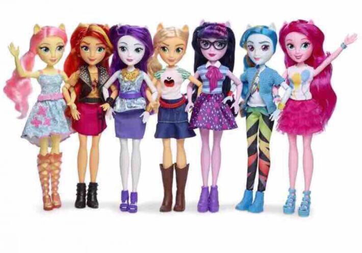 цена 2018 original 25cm Toys Rainbow Dash Twilight PVC Action Figures Classic Style Collection Dolls