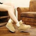 2016 de Invierno Botas de Nieve Botas de Las Mujeres Coreanas Marea Estudiante Cashmere Mujeres Calientes Zapatos de la Felpa Zapatos Mujer X084
