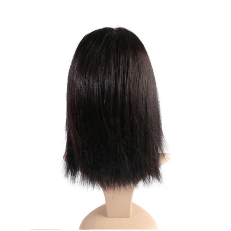 Ali Queen pelo lacio peruano 4x4 Peluca de cierre de encaje virgen Remy pelucas de pelo humano 2/3 paquete con suizo /HD/Peluca de encaje transparente