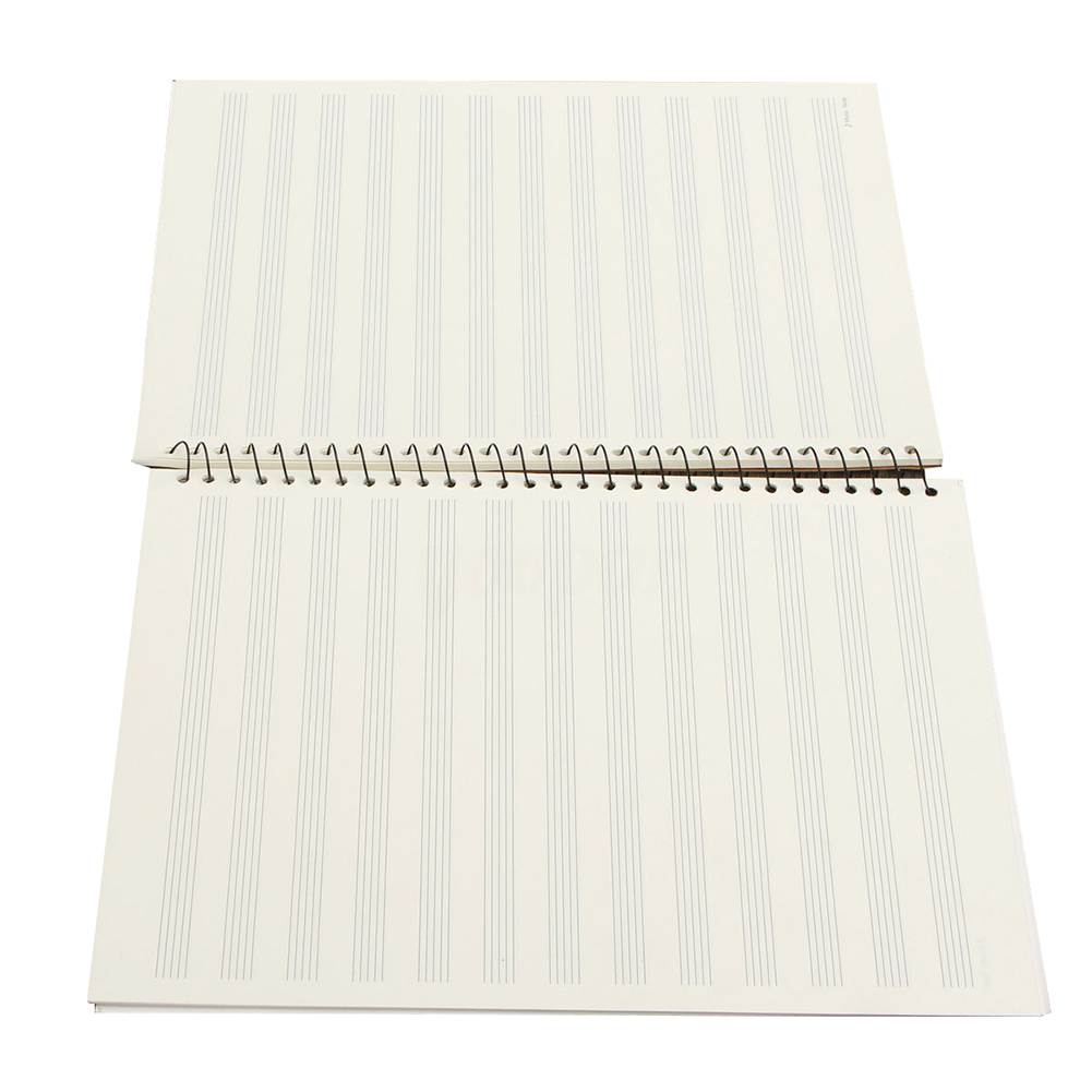 50 Pages Mozart Musical Sheet Manuscript Paper Stave Notation Notebook Spiral Bound