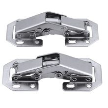 2pcs 90 Degree Concealed Hinges Cabinet Cupboard Furniture Hinges Bridge Shaped Door Hinge with Screws DIY Hardware Tools Mayitr(China)