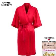 CAVME Custom Robe Women's Kimono Satin Robes Wedding Bride Bridesmaid Robes Gift Kimono Femme Summer Sleepwear Floral Bathrobe недорого