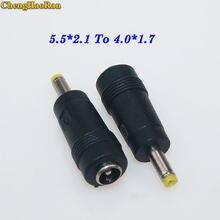 Chengaoran – prise d'alimentation pour Sony, adaptateur pour ordinateurs portables PSP, 1 pièce, 5.5 2.1 4.0 1.7 jack DC 5.5x2.1mm femelle à 4.0x1.7mm mâle