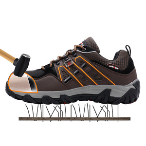 Image 5 - Men Steel Toe Construction Work Shoes Puncture Proof Breathable Safety Shoes With Steel Toe Cap