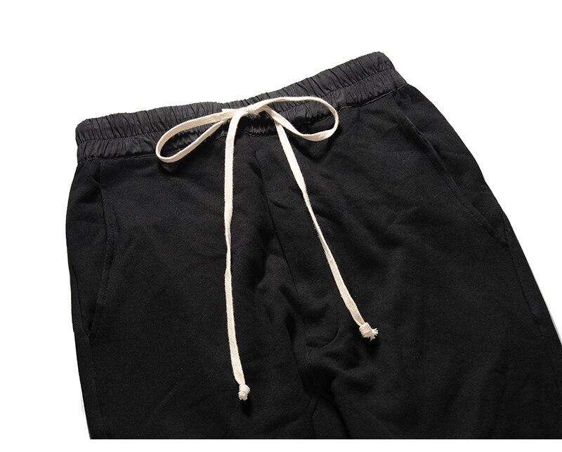 90 S nouveau HipHop RO style haute qualité modèle classique INS joker Chao personnes Terry coton noir loisirs pantalons de survêtement hommes femmes Oversize - 3