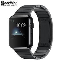 Nueva banda de acero inoxidable 316l de alta calidad para apple watch correa de la venda de la pulsera de metal para iwatch