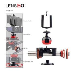 Image 5 - Lensgo l8x 원격 제어 카메라 비디오 전동 전기 슬라이더 모터 nikon canon dslr dv 영화 vlogging gear 용 돌리 트럭