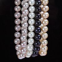 ddh003810 real AAA 7 8mm white black pink cultured freshwater pearl necklace 28% Discount (A0513)