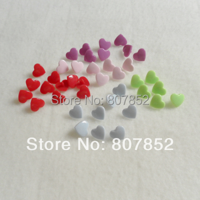 ( 60 color ) DHL 6000 sets KAM Heart Shape Plastic Snaps Buttons Snaps Fasteners XT 501 for diaper baby cloth nappy