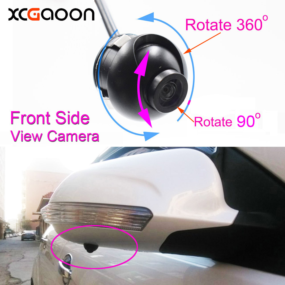 New mini CCD 140 Degree Wide Angle Waterproof Car Front Side View Camera 4 Layer Glass