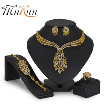 MUKUN 2018 Dubai African Beads Jewelry Set For Women Jewelry Sets Nigeria Wedding Bridal Imitation Crystal Ethiopian Jewellery(China)