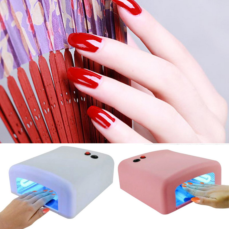 36W Nail Dryer Red Diamond Shape LED UV CCFL Light Gel Curing Lamps 2016 New Popular