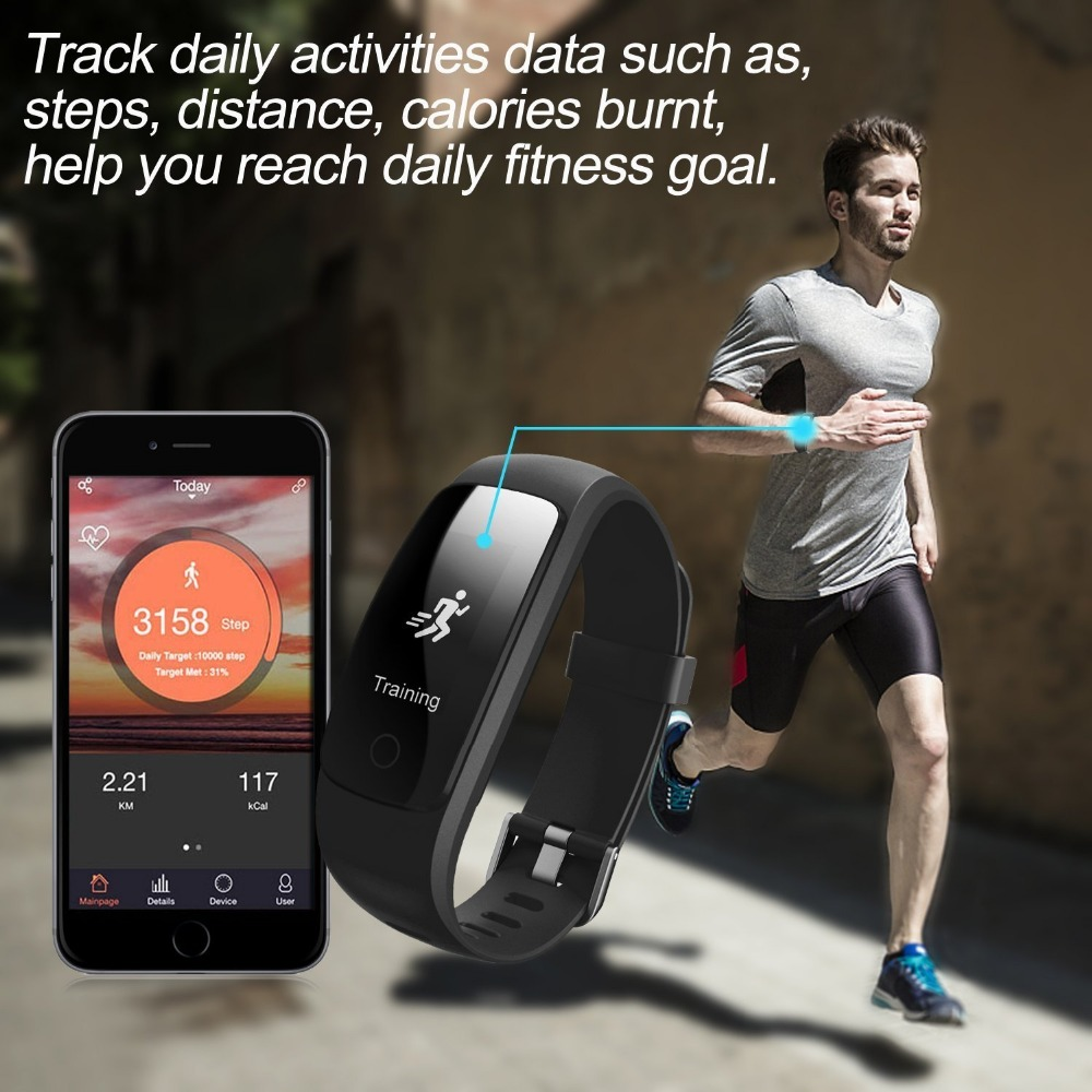 Teamyo Sport Smart Bracelet Activity tracker Cicret bracelet GPS fitness tracker Heart Rate Monitor cardiaco Smart wristband 20