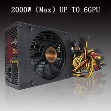 2000 W Max ATX fuente de Alimentación SATA IDE 6GPU Minería para ETH BTC Etéreos Lot CT Alta Calidad fuente de Alimentación del Ordenador Para BTC