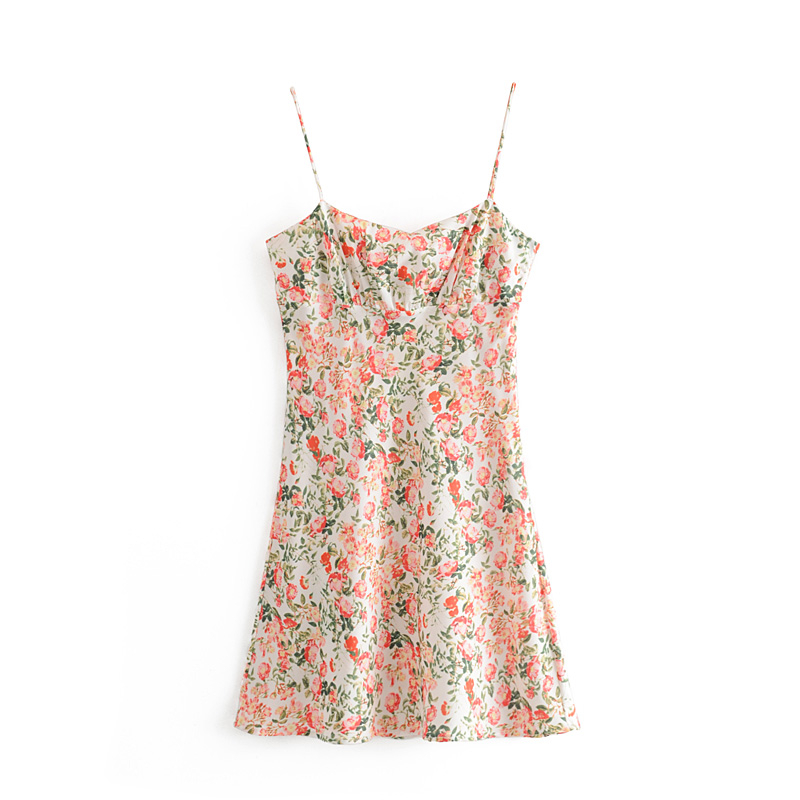 Prairie Chic Vintage Floral Print Midi Strap Dress Women New Fashion Sweet Holiday Sexy Mini Beach Dresses Vestidos Mujer