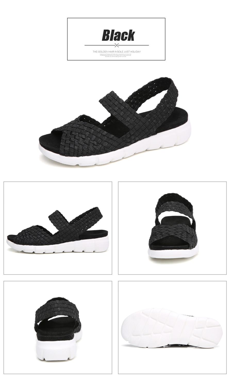 HTB16Q1wDkyWBuNjy0Fpq6yssXXas STQ 2019 women flat sandals shoes women woven wedge sandals ladies beach summer slingback sandals flipflops jelly shoes 803
