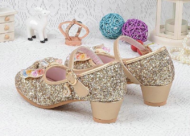 Nieuwe luxe sandalen kinderen meisjes leren bowtie party schoenen - Kinderschoenen - Foto 6