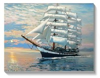Museum Quality Seascape Oil Painting Handpainted Sail Boat On Ocean Modern Canvas Wall Art Picture Free