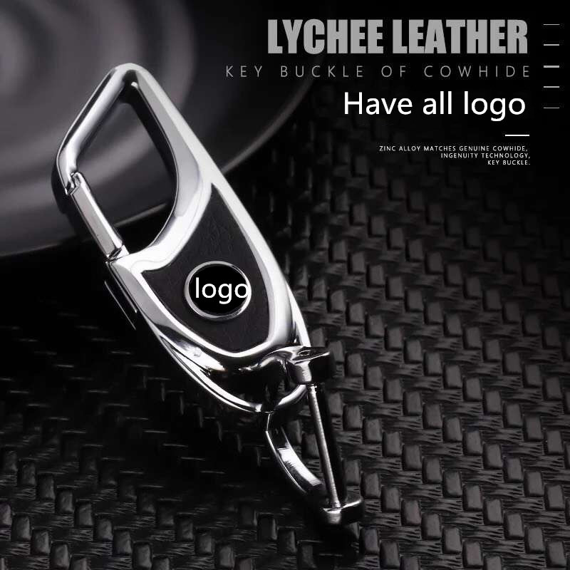 Genuine Mercedes Benz GLC Class Keychain cow leather stainless steel keyring