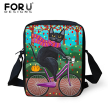FORUDESIGNS Kawaii Mini School Bag for Kids,Funny Cat Kinder