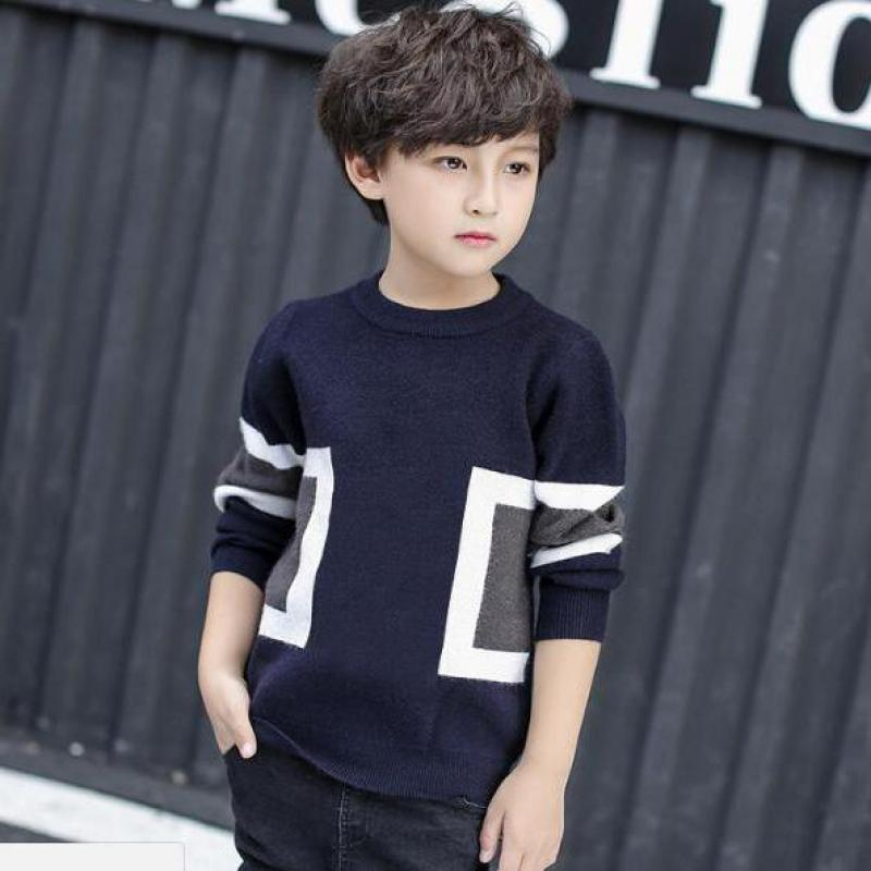 Kids Sweaters Boys Sweaters Children Pullover 2018 Autumn Winter Baby Boy Knitted Top Children Boys Sweater Kids Clothes 10 12 autumn winter children turtleneck kids sweaters 10 solid colors girls sweater boys pullover basic shirt 2 10 years