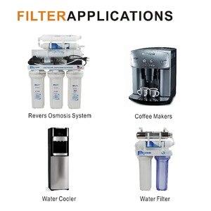 """Image 4 - Buzdolapları/su soğutucu yedek su filtreleri T33 Inline tortu filtresi, 1/4 """"hızlı itme konnektörü (2 adet/grup)"""