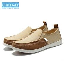 CHILEMEI Новые Моды для Мужчин Повседневная Обувь Весна Холст Обувь для Мужчин Поскользнуться На Обувь для Вождения Дышащие Мокасины Chaussures Hommes HOT