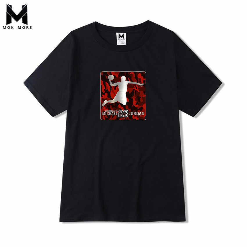 070ef33d81fe Летняя мужская Новая повседневная футболка с принтом 23 Jordan большого  размера мужская хлопковая модная деловая Повседневная