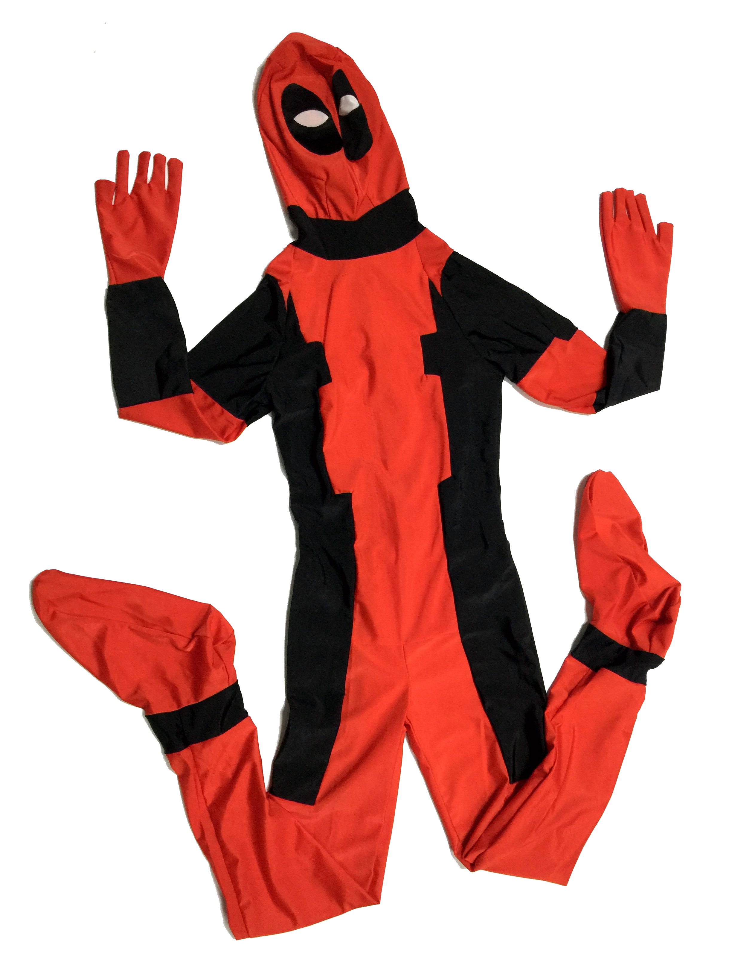 deadpool Halloween Costume For Kidsmask cosplay costumes for children boys fancy dress Lycra Spandex Zentai anime fantasia child