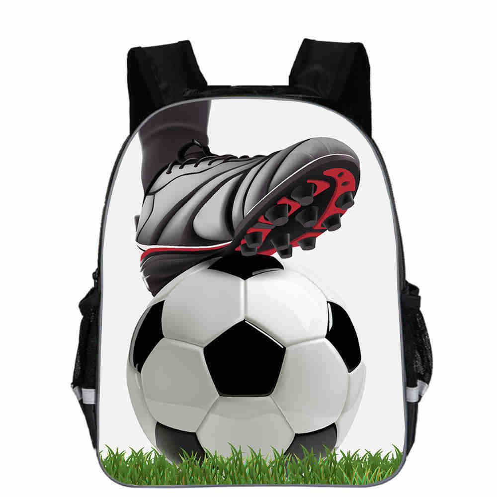 11 Inch New Cool 3D Ice Soccerly Ball Print Bag For Teenager Boys Casual Team Bags Children Team Bags Backpack