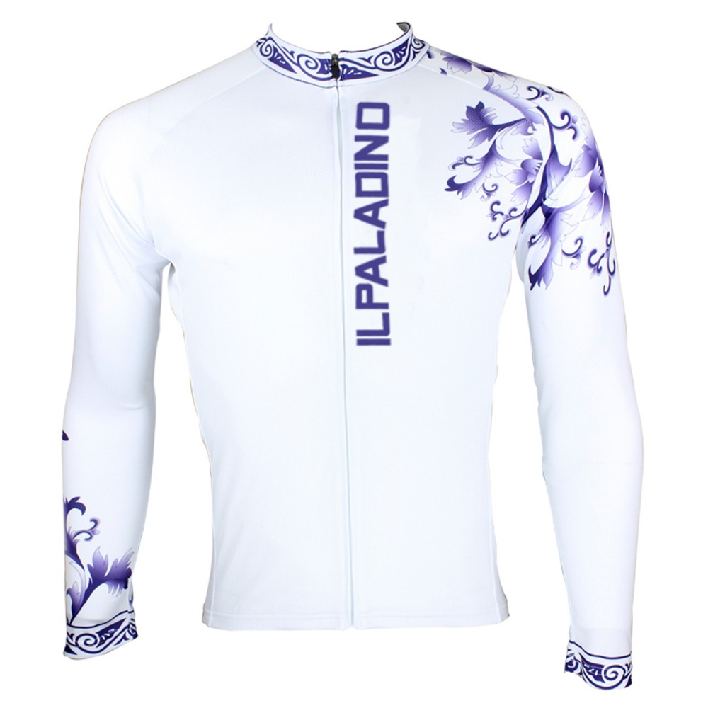 ILPALADINO Cycling Jersey Mens Jersey Bike Jersey Cycling Clothes Set Blue And White Por ...