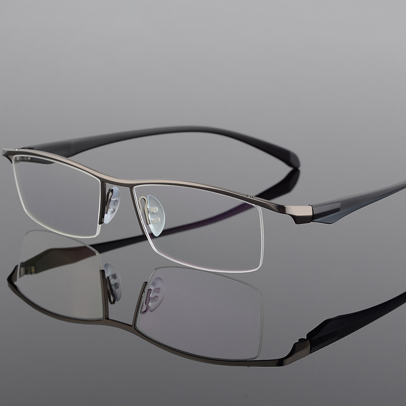 TR90 Titanium Optical Glasses Frame Men 2019 New Half Square Myopia Eye Glass Prescription Eyeglasses Fashion Male Eyewear in Men 39 s Eyewear Frames from Apparel Accessories